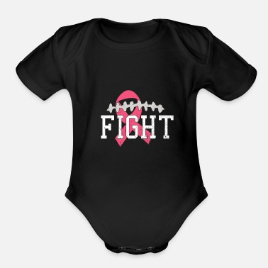 Fight Breast Cancer Football Fight Breast Cancer - Organic Short-Sleeved Baby Bodysuit