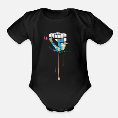Play Of Colors Magic Melting Cube - Organic Short-Sleeved Baby Bodysuit