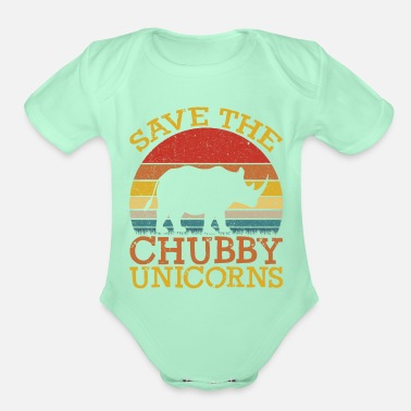 Save Save the Chubby Unicorns - Organic Short-Sleeved Baby Bodysuit