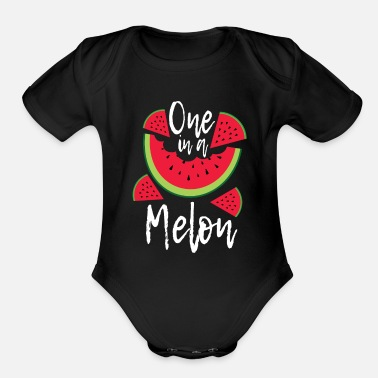 Melon Water Melon - Organic Short-Sleeved Baby Bodysuit