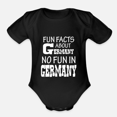 Fun Facts Fun fact Germany - Organic Short-Sleeved Baby Bodysuit