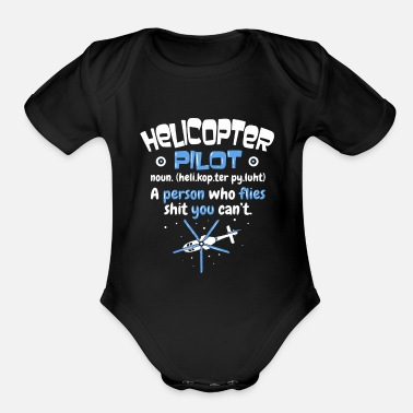 Helicopter Pilot Helicopter Pilot - Organic Short-Sleeved Baby Bodysuit