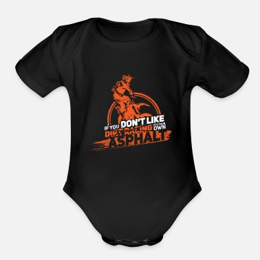 Street Dirt track racing - Organic Short-Sleeved Baby Bodysuit