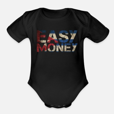 Gamebred Sticker Easy Money Gamebred Jorge Masvidal MMA Fighter Fun - Organic Short-Sleeved Baby Bodysuit