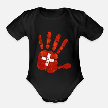 Switzerland Switzerland - Organic Short-Sleeved Baby Bodysuit