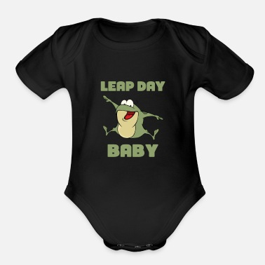 Year Leap Year Baby - February 29th Birthday - Leaping - Organic Short-Sleeved Baby Bodysuit