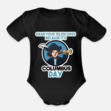Holiday Island Christopher Columbus sailors Adventure - Organic Short-Sleeved Baby Bodysuit