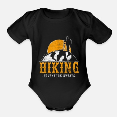 Hiking Adventure Awaits Hiking Adventure Awaits Funny Hiker Adventure - Organic Short-Sleeved Baby Bodysuit