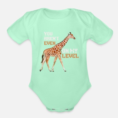 Safari Giraffe animals Africa - Organic Short-Sleeved Baby Bodysuit