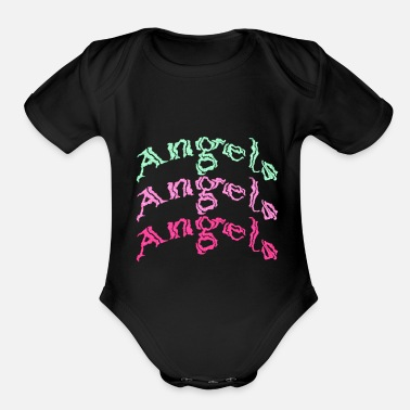 Ángel angels angels angels - Organic Short-Sleeved Baby Bodysuit