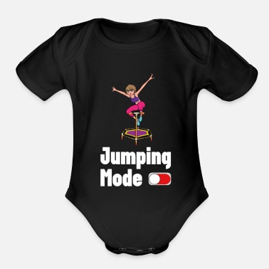 Fitness Jumping Fashion Trampoline Jumpstyle jumping sport - Organic Short-Sleeved Baby Bodysuit