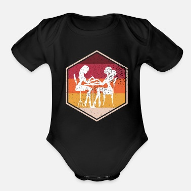Career Distressed Manicurist Hexagon Design - Organic Short-Sleeved Baby Bodysuit