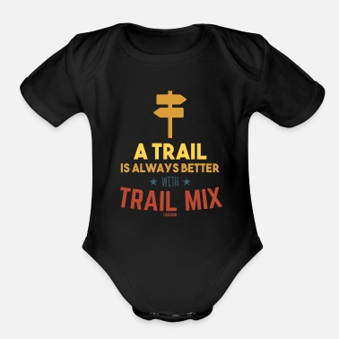 Snack Trail Mix Day Camping Hiking healthy - Organic Short-Sleeved Baby Bodysuit