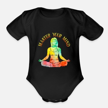 Psychedelic Yoga - Psychedelic Master your Mind - Studio - Organic Short-Sleeved Baby Bodysuit
