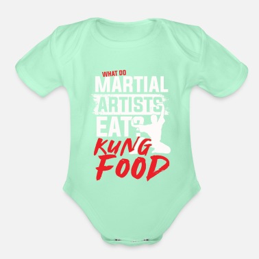 Wing What do martial artists eat kung food - Organic Short-Sleeved Baby Bodysuit