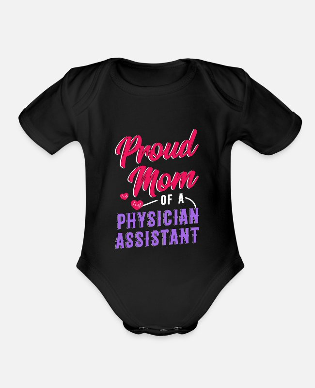 Love Baby One Pieces - physican Assistant Mom Cma physican Assistant Gift - Organic Short-Sleeved Baby Bodysuit black