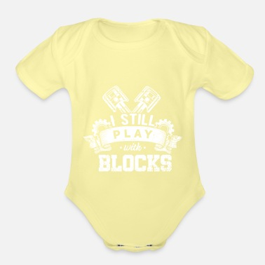 Not Perfect Play Blocks Aircraft Mechanic Diesel Mechanic Gift - Organic Short-Sleeved Baby Bodysuit