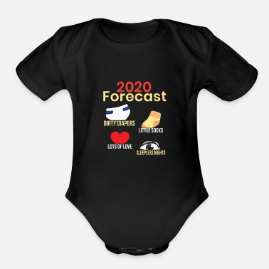 New Parents Funny New Parent 2020, Pregnancy Reveal, New Mom, - Organic Short-Sleeved Baby Bodysuit