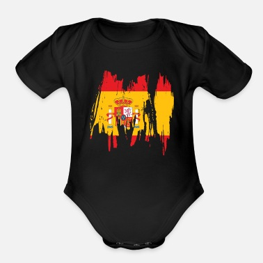 Spain Spain Travel Gift Idea - Organic Short-Sleeved Baby Bodysuit