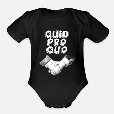 Favor Quid pro quo - a favor for a favor - Organic Short-Sleeved Baby Bodysuit