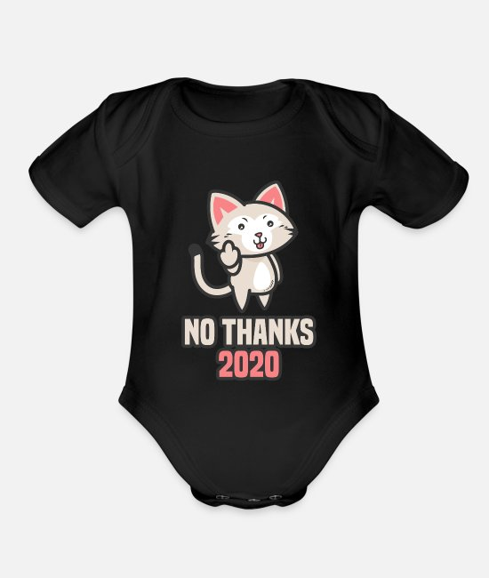 Tahnksgiving 2020 Baby One Pieces - Middle Finger Safe Hands People's Life Horror Scar - Organic Short-Sleeved Baby Bodysuit black
