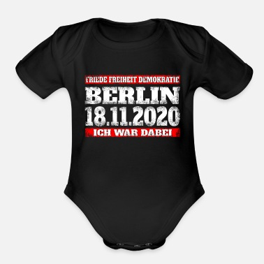 Peace Movement Berlin November 18, 2020 - Infection Protection - Organic Short-Sleeved Baby Bodysuit