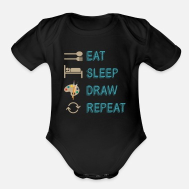Painting Painting paintings - Organic Short-Sleeved Baby Bodysuit