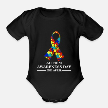Autism Awareness Day AUTISM AWARENESS DAY - Organic Short-Sleeved Baby Bodysuit