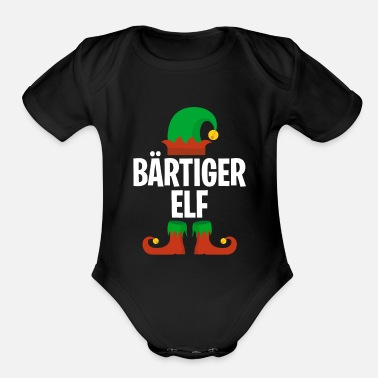 Nicholas Men's Bearded Elf Partner Look Family Outfit - Organic Short-Sleeved Baby Bodysuit