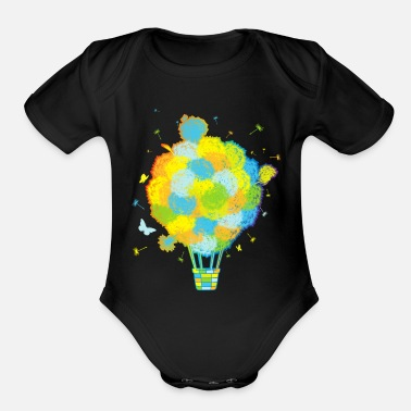 Baloon Have_a_nice_trip! - Organic Short-Sleeved Baby Bodysuit