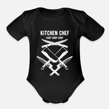 Funny Cooking Cooking, funny cooking, cooking funny, - Organic Short-Sleeved Baby Bodysuit