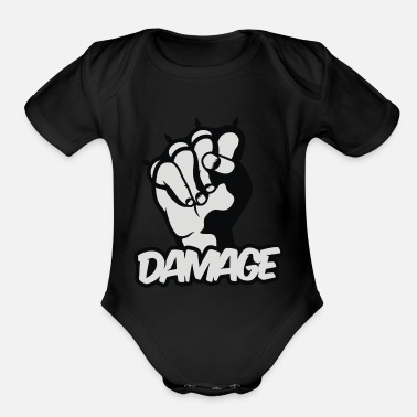 Damage Damage - Organic Short-Sleeved Baby Bodysuit