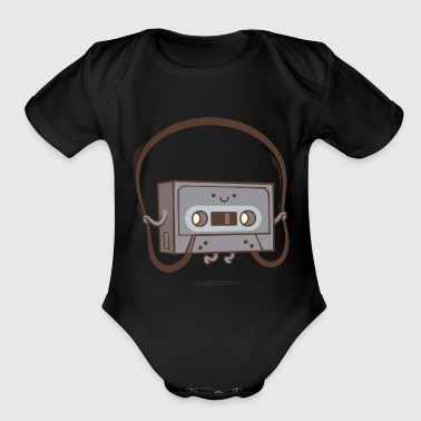 Jumping Tape - Organic Short Sleeve Baby Bodysuit