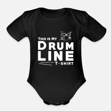 D'n'b Drum Line DnB - Organic Short-Sleeved Baby Bodysuit