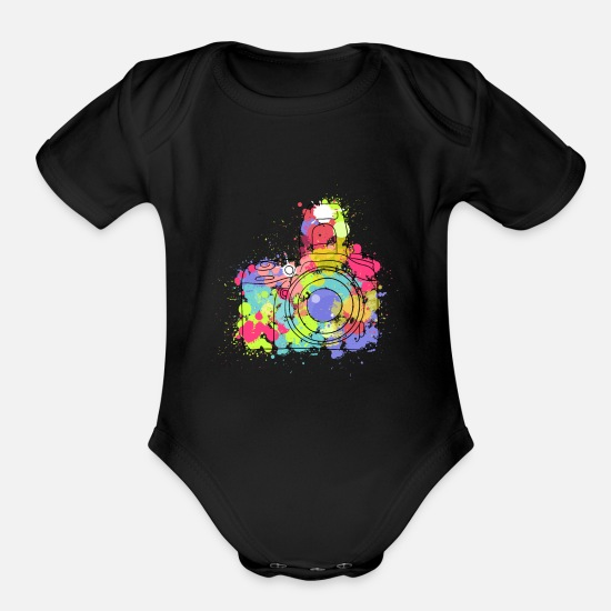 Image Baby Clothing - Photo cam - Organic Short-Sleeved Baby Bodysuit black