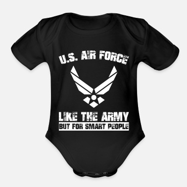 Us Air Force US Air Force - Organic Short-Sleeved Baby Bodysuit
