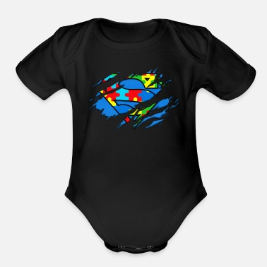 Super Autism Awareness Day Gifts Super Autism T Shirt - Organic Short-Sleeved Baby Bodysuit