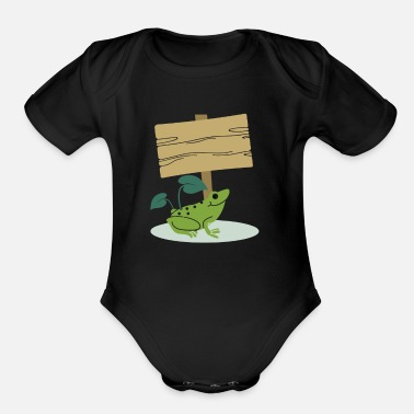 3245b8493 Frog with Sign -Write your own custom text message Organic Long ...
