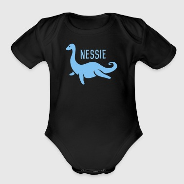 Lochness Nessie, The Loch Ness Monster - Organic Short Sleeve Baby Bodysuit