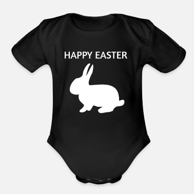 Easter Bunny Happy Easter Easter Bunny - Organic Short Sleeve Baby Bodysuit