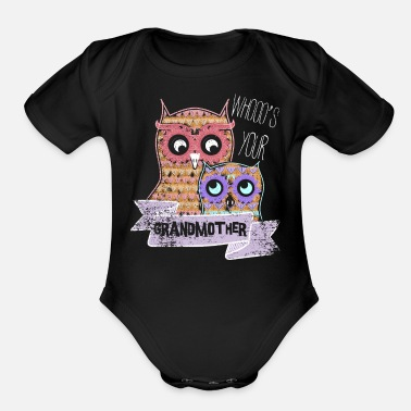 Personalized Grandmother Personalized Grandma Gifts - Organic Short-Sleeved Baby Bodysuit