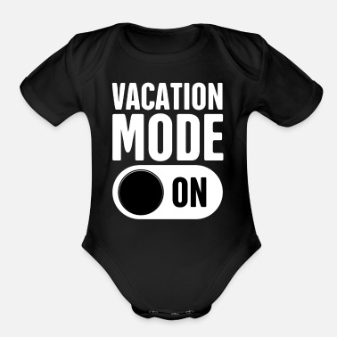 Mode Vacation Mode - On - Organic Short Sleeve Baby Bodysuit