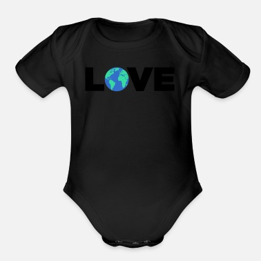 Warming Climate Change & Global Warming - Organic Short-Sleeved Baby Bodysuit