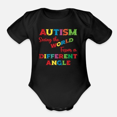 Autism Autism Unicorn Kids Autism Awarenesss - Organic Short-Sleeved Baby Bodysuit