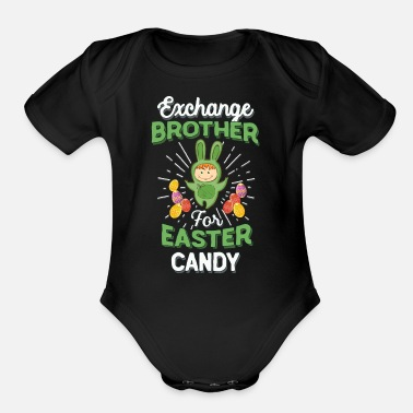 Exchange Brother Easter Candy Toddlers - Organic Short-Sleeved Baby Bodysuit