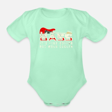 Bass Player Bass Player - Organic Short-Sleeved Baby Bodysuit