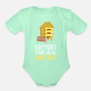 Save Bee Shirt Insect Flower Wasp House Local Honeybees - Organic Short-Sleeved Baby Bodysuit