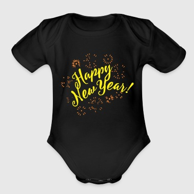 Happy New Year - Organic Short Sleeve Baby Bodysuit