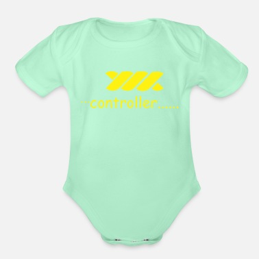 Controller controller - Organic Short-Sleeved Baby Bodysuit