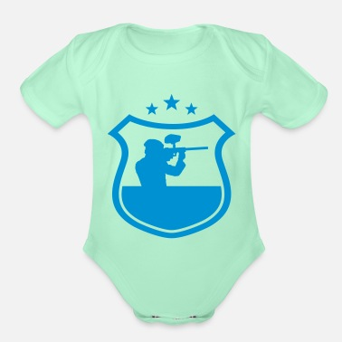 Paintball paintball - Organic Short-Sleeved Baby Bodysuit